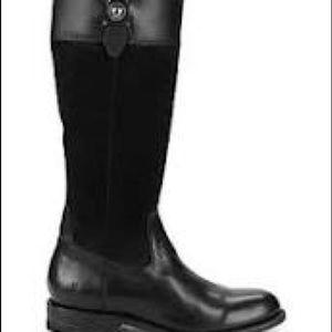 Frye New US 5.5  Black Jaydon Button Leather Boot